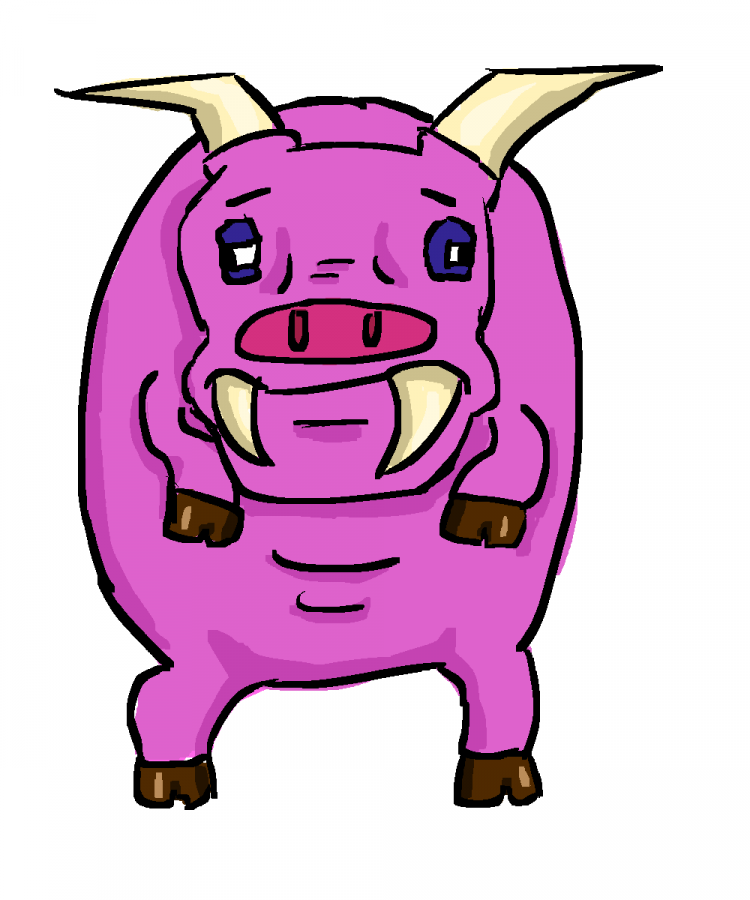 I drew a weird pig goblin thing. Not sure why. I like him though. ugly
