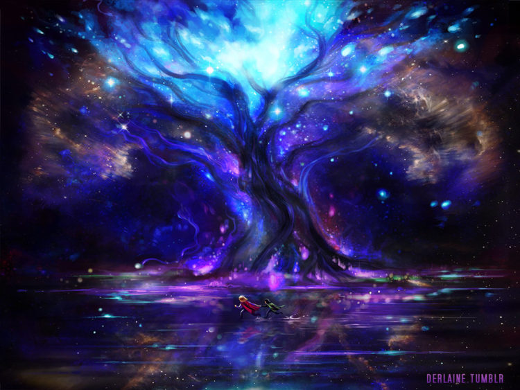 *Gin and Helena walked through the dimension, finally Helena stopped in front of the majestic door l