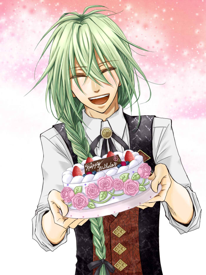 Ukyo: *Ukyo was at the bakery filling orders for cakes that were requested for January.* Happy Birth