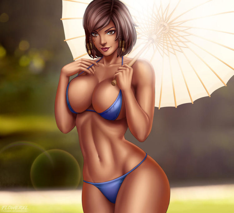*Taking advantage of the Valentine's Specials, she heads to one of the water springs to enjoy