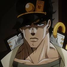 *Jotaro keeped his eye on the man across the street that was peering into the bakery. He then looked