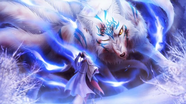 *Gentoka was with his grand mother Helena @sweetsugardemon in the Kitsune Kingdom, he was showing he