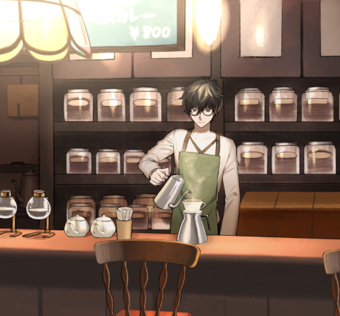 *he brew coffee everytime he mmake coffee he always remember the time he got teach how to make one*