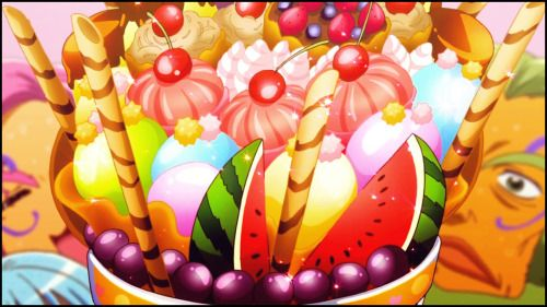 Wow! Hello minna! *he brings out several jumbo parfaits.* Please, enjoy yourselves! You are welcomed