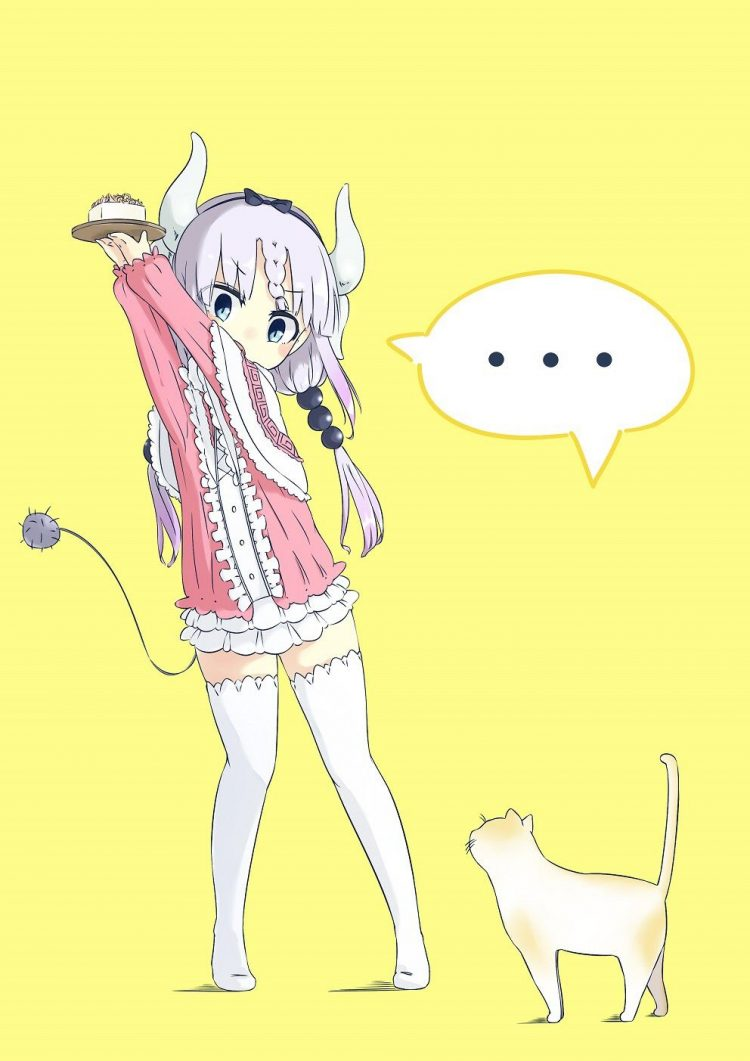 *Puts her treat she got from the bakery up in the air so the cat that followed her to the orphanage