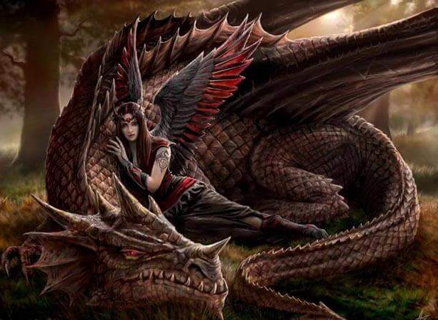 *sitting by an older dragon that mio gived me* easy Drizzt. They wont hurt u boy. I know my family w