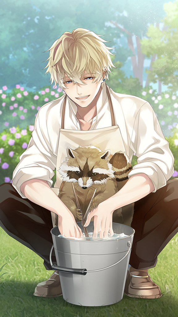 Keiichi:: *helping around the garden was relaxing for him, especially since he had such a gentle nat