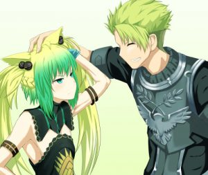 *Achilles smiled as he put a hand onto the head of his lover and he chuckled at seeing her face blus