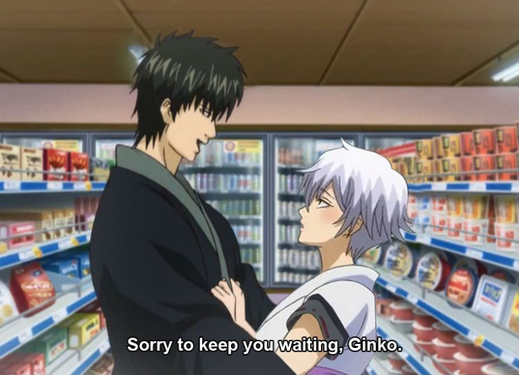 *Meanwhile at a store in Kabukicho.* @hijikatatengusensei *Ginko was heading to the store to get som