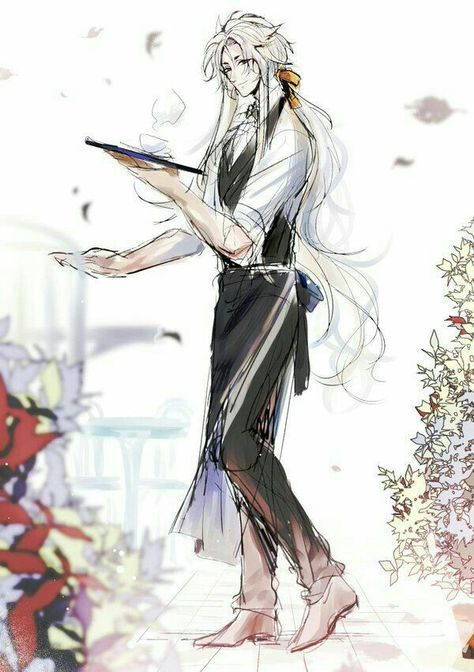 *later that day, he served tea and snacks at the Enchanted FoxFlame Garden Shrine. He was using the
