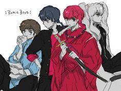 *my brothers Ataru, Ranma, Inuyassha and me* 5d37da5bfa80ebb4322ced8756b5dcf6–inuyasha-boys