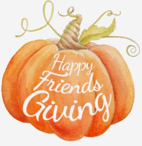 Welcome to SugarSweet Bakery! This year we are hosting a Happy Friendsgiving Tea & Sweets Party