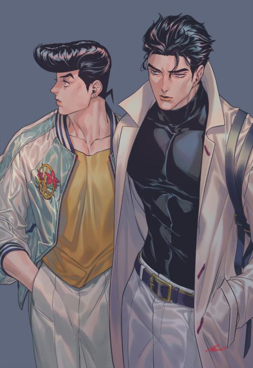 *uncle Josuke and me* @crazydiamond tumblr_p8xacnhmOP1s490t5o1_500