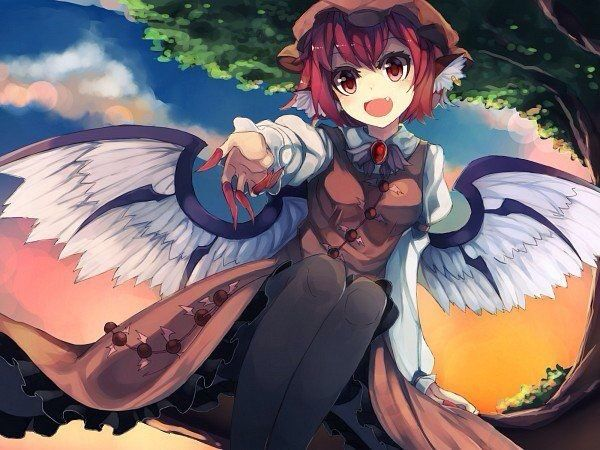 *Eventually the two of them would come across Mystia singing a calm song to herself on a tree branch