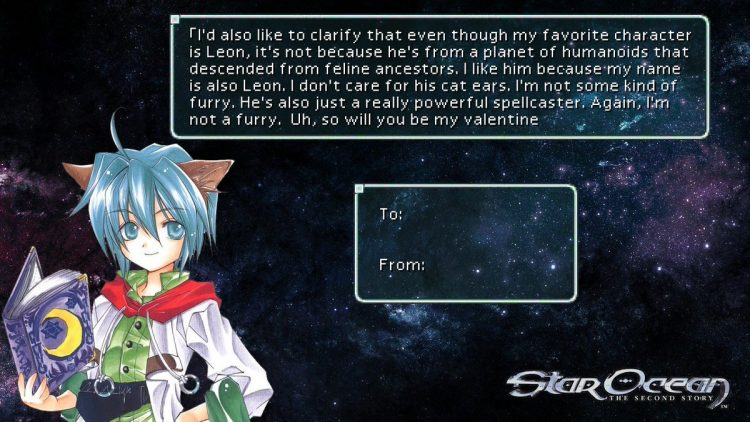 //this is a valentine card but it explains a bit about leon just read it.// 8548662f6776bb2cb90b5785