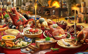 *Makes sure her auntie has plenty of food prepared so that any family and guest had a great Holiday