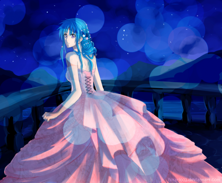 *Botan waited for him on the balcony as she had wanted to see the beautiful moon while he had went t