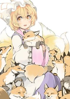 *was in the shrine relaxes for a little bit until five foxes appears and begin to cuddle with me* aw