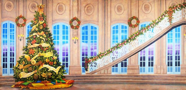 *Every year the Foxflame Ballroom transforms into a beautiful gathering area where Christmas trees a