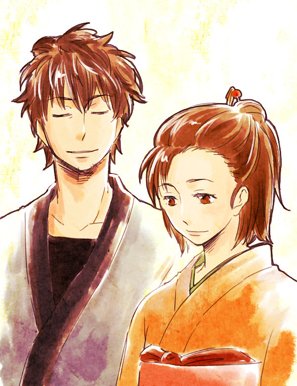 *The ghosts of Tetsugoro and Otose Ayano watch over their family, friends and customers celebrating