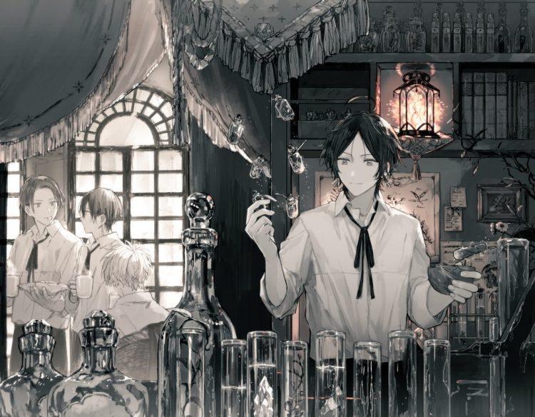*he making potion for research to see, is he able to make new type potion* maybe scent can help me i
