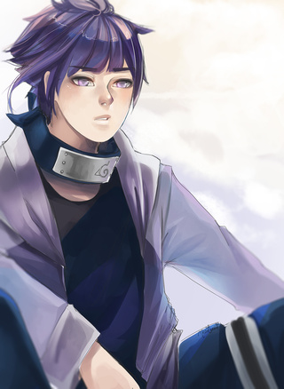 -he nervously walks into the bakery and looked around as he blushes. He shyly places his order and g