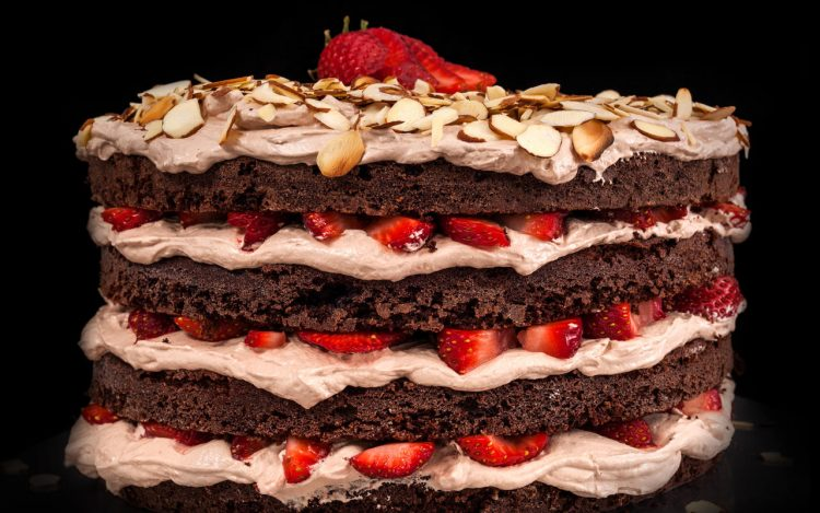 *comes out of the kitchen with a cake he made for Helena.* Happy Birthday Beautiful! Made this one m