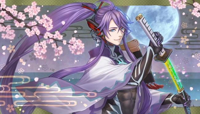 *Protecting the visitors of Sakura Lane as he wanders around on patrol.* kamui-gakupo-anime-boy-kata
