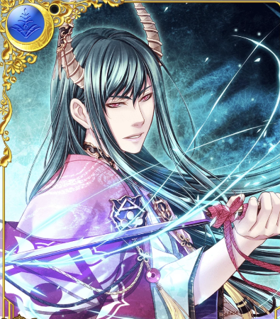 *Motonari was glad to have the links of the chains released but still felt angst at having a collar