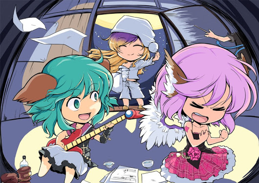 @deaftoallbutthesong *Chilling in Mystia's room practicing guitar.* Hey this is pretty fun and