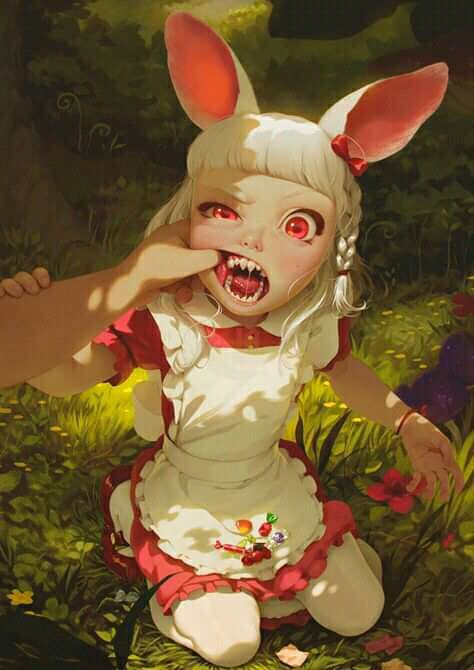 *encounters a human-eating bunny very deep in the realm of Lunaris. Fortunately it was far from the
