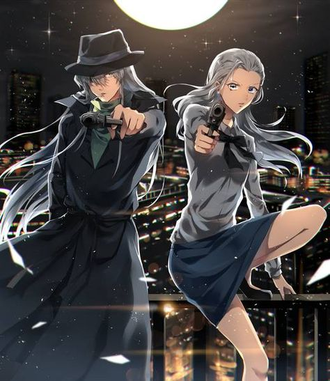 *Hard at work with sis Tessa patrolling and doing investigation on the streets of Kabukicho.* @tessa