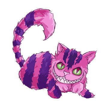 *purrs* Ready to be fed! Cheshire-Cat