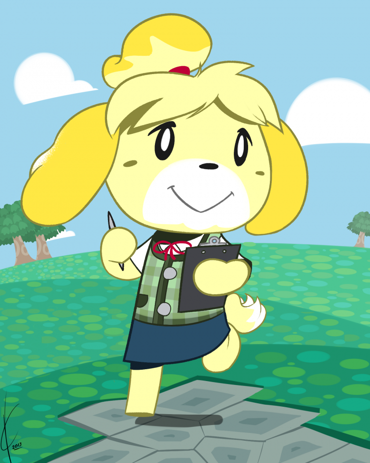 Yup I even work on weekends, but I love my job! animal_crossing_new_leaf__isabelle_by_dreatos-d6aigx