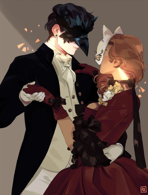 *Dancing at the Valentine's Day Masquerade Ball with his wife Alfonsina.* Happy Valentine&#821