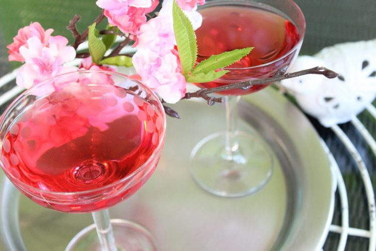 *In the lounge area the spring beverage special would be the Cherry Blossom Cocktail. He made a few