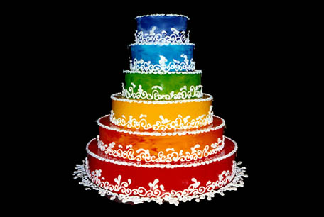 *Arrives with the cake* Congratulations to the handsome couple!! gay-wedding-cake