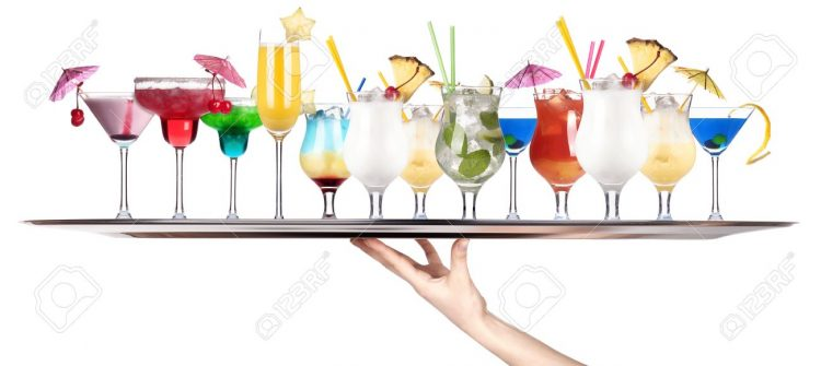 CELEBRATION TIME!!! 18410398-hand-with-tray-full-of-alcohol-drinks-celebration-concept-isolated