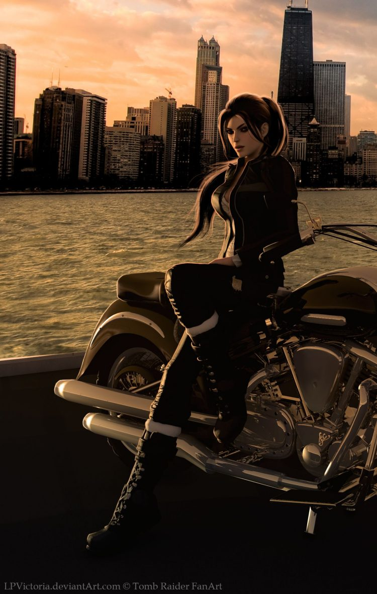 *Rika makes a quick stop at the piers across the city before heading back to the mansion. She also h