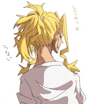 *Walks out of the apartment complex in Akiba. He wondered where his partner Saitama had run off to.*