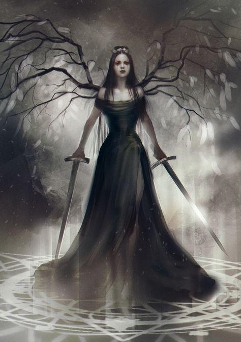 4e2624d24ff514b19940df8871602271–angel-sketch-dark-queen