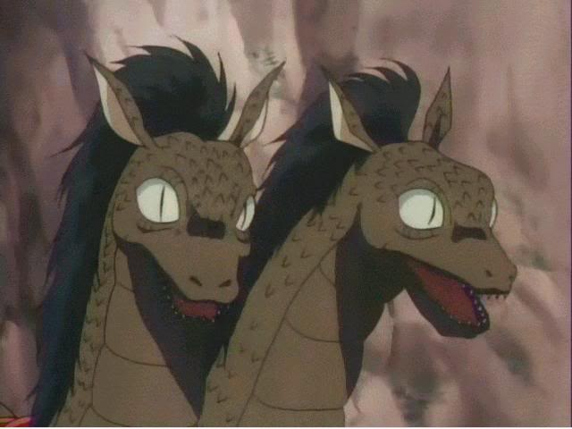 *Ah-Un, the two headed dragon demon and beast of Sesshomaru's, roamed the area freely when not