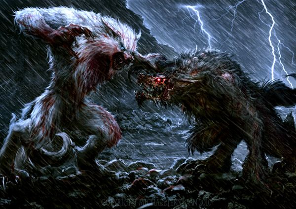 *Uvoginn vs Koga* @killerwolf 75503e1ae7470797b243b31ac398f693–werewolf-art-pathfinder-rpg