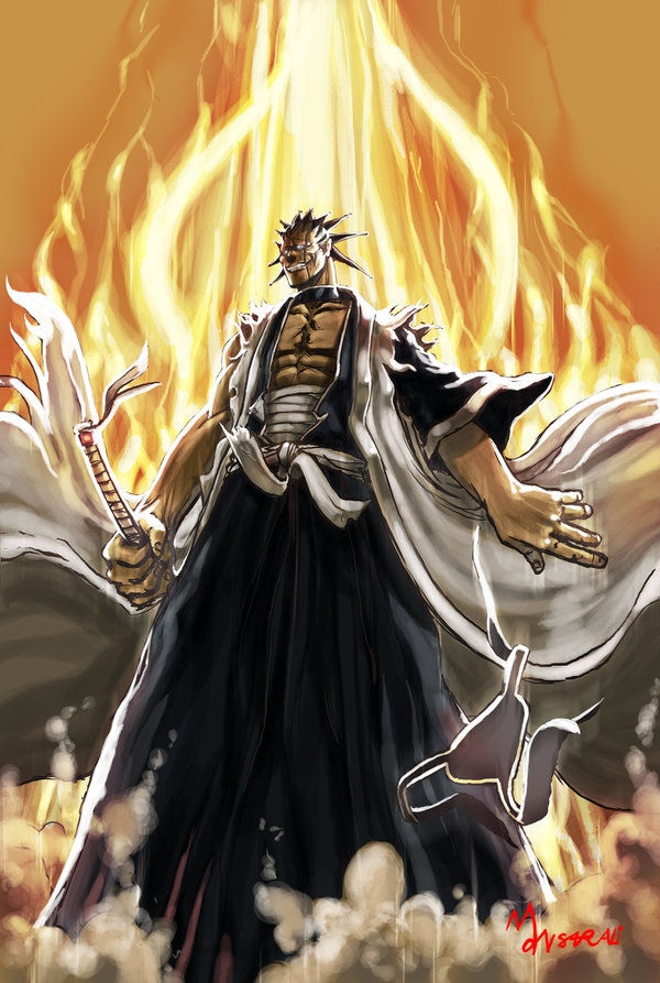**Enter Kenpachi** *Like a blast of fire Kenpachi appeared in the borderlands, he was almost sure it