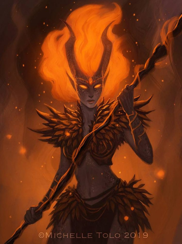 *Appearing at the True Crossover Academy of the Blue Flames with her father. Demona had renewed spir