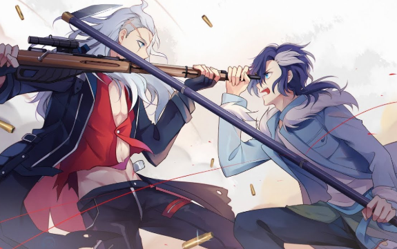 *As Saya @sayamaebelle , Yuliy leaped foward and knocked the sword from his brother's hand, th