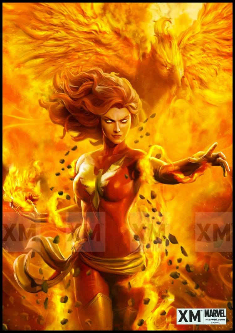 *Jean appears from behind and although she is awaken, the Phoenix still have control over her. She s