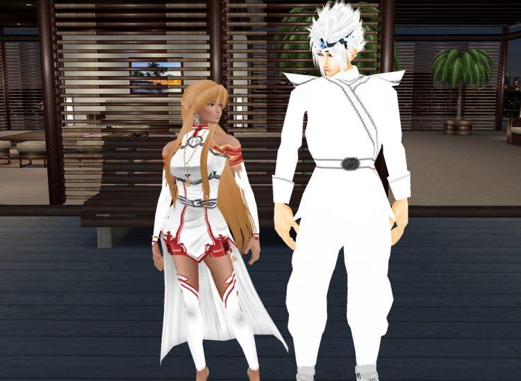 *Asuna with Leuko* @seraphimleuko asunaandleuko