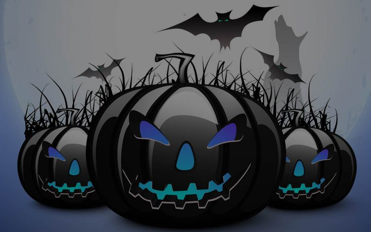 halloween-background-scary-jack-o-lanterns