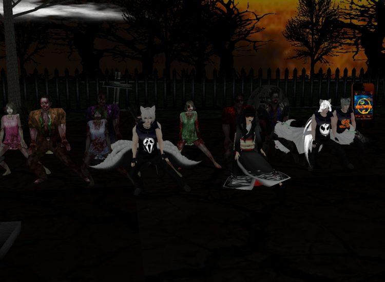 *We went raveyard dancing with some random zombies* @shirotsunetama @ginstunetama @haiirostunetama l
